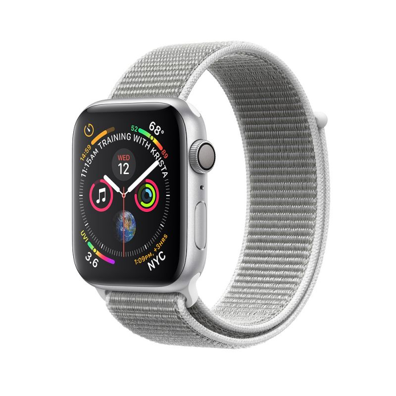 Apple Watch Nike+ Series 4 40mm (GPS) Silver Aluminum Case with Summit White Nike Sport Loop (MU7F2)