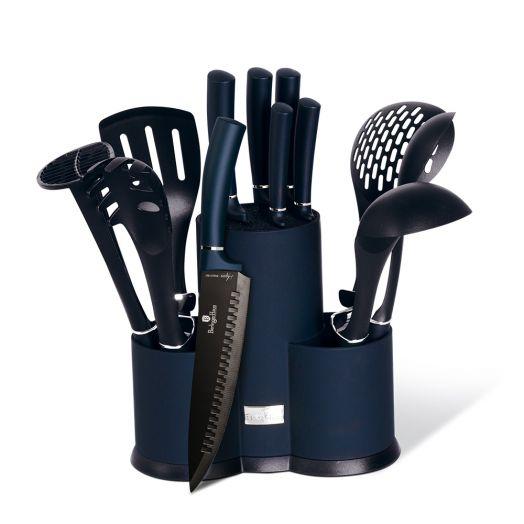 BH-6249 Набор ножей и кухонных аксессуаров на подставке 12 пр.