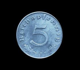 Германия 5 пфеннингов 1940-41гг Третий Рейх, отличные
