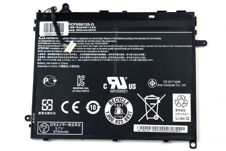 Аккумулятор Acer Iconia Tab A510/Iconia Tab A700 (BAT-1011 (1ICP5/80/120-2)) Оригинал