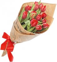 Тюльпан 25 шт (красный)