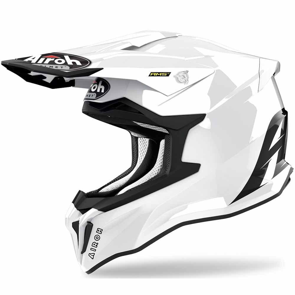 Airoh Strycker Color White Gloss шлем для мотокросса и эндуро