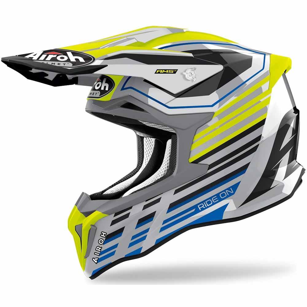 Airoh Strycker Shaded Yellow Gloss шлем для мотокросса и эндуро