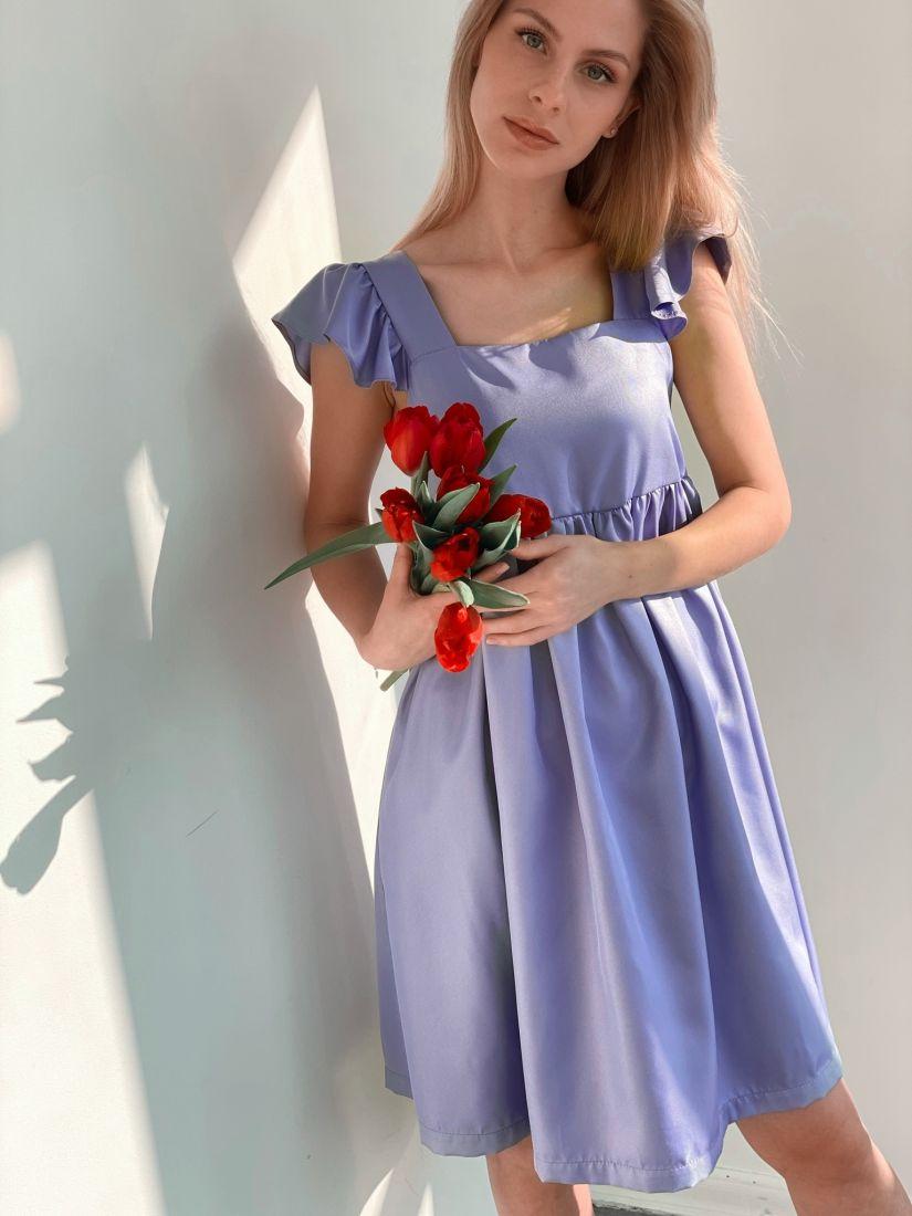 "s3790 Платье в стиле babydoll в цвете ""лаванда"""