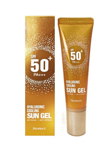 Deoproce Гель для лица увлажняющий солнцезащитный Hyaluronic Cooling Sun Gel SPF50 50г DEOPROCE