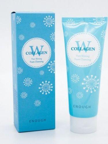 Очищающая пенка с морским коллагеном 100мл - Enough W Collagen Pure Shining Foam Cleansing ENOUGH
