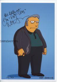 Автограф: Джо Мантенья. Симпсоны / The Simpsons