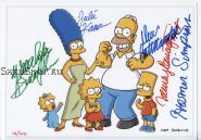 Автографы: Д. Кастелланета, Н. Картрайт, Д. Кавнер, Я. Смит. Симпсоны / The Simpsons
