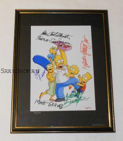 Автографы: Грейнинг. Кастелланета, Картрайт, Кавнер, Смит. Симпсоны / The Simpsons