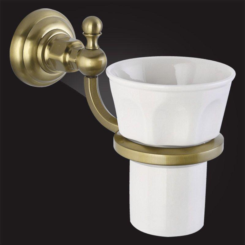 Стакан для ванной с держателем Elghansa Praktic PRK-411 Bronze