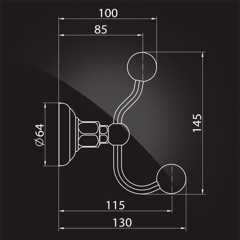 Крючок для ванной Elghansa Praktic PRK-120 Bronze