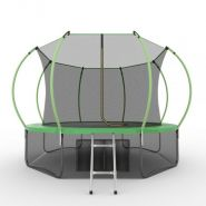 Батут EVO JUMP Internal 12ft (зеленый) + нижняя сеть