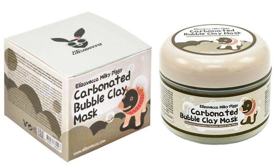 Маска для очищения пор глиняно-пузырьковая Elizavecca Milky Piggy Carbonated Bubble Clay Pack 100g