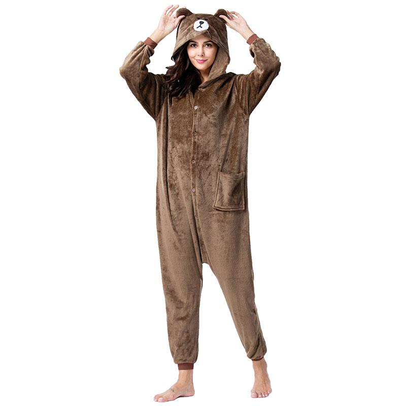 Детская Пижама Кигуруми Медведь Бурый