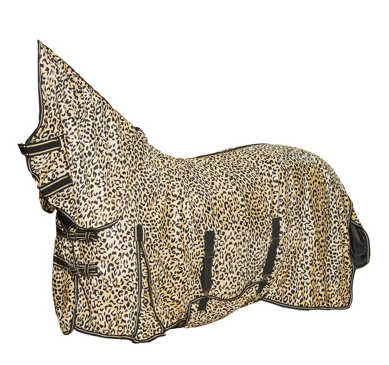 """Антимоскитная попона с капором и фартуком """"Леопард"""", Супер плотная """"Horse Comfort"""""""