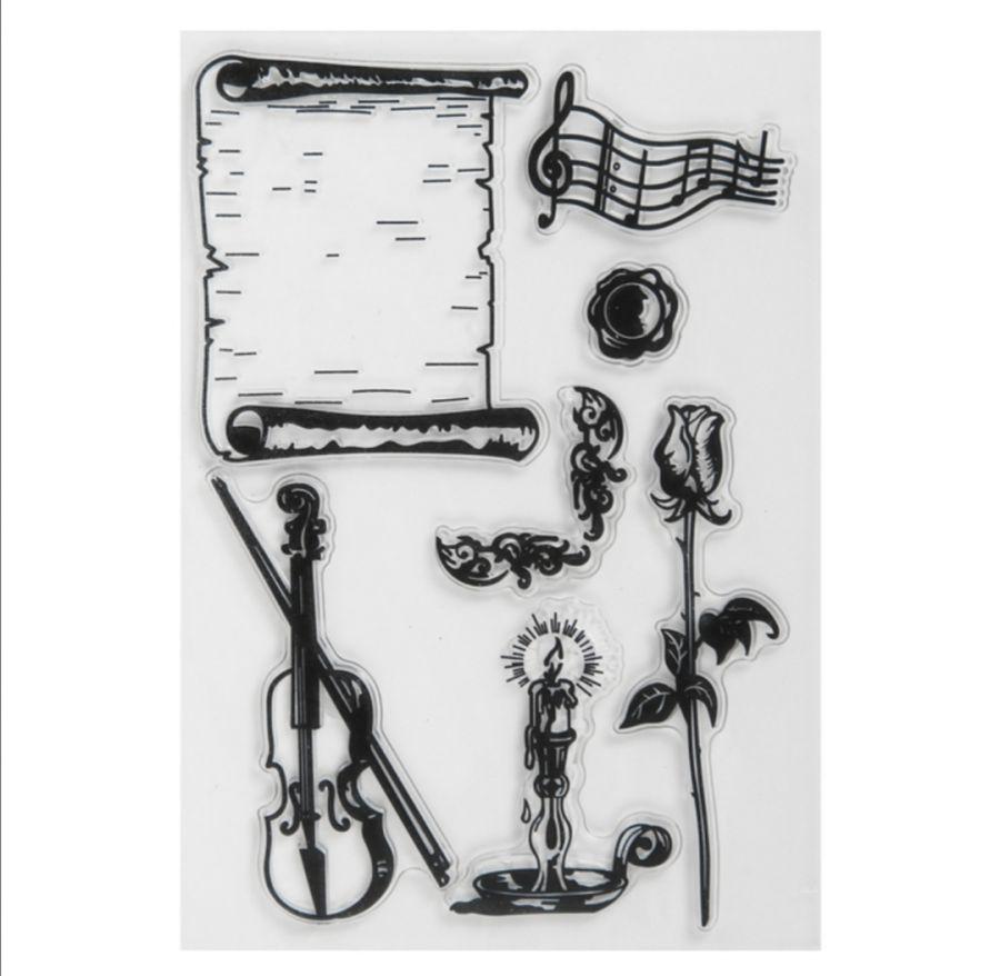 Набор штампов №36, Скрипка