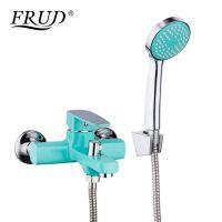 Смеситель для ванны бирюзовый Frud R32303