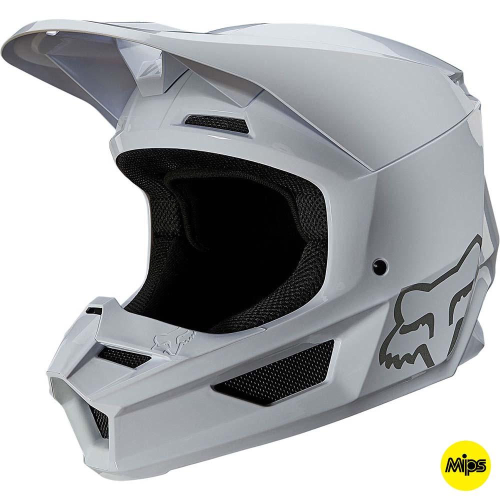Fox V1 Plaic White MIPS (2022) шлем внедорожный