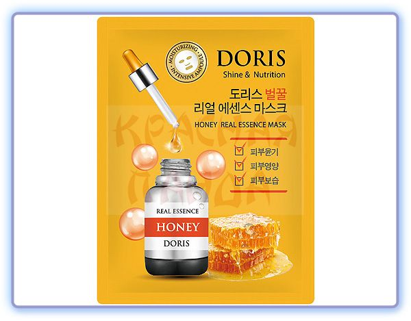 Тканевая маска для лица Мед Doris Honey Real Essence Mask