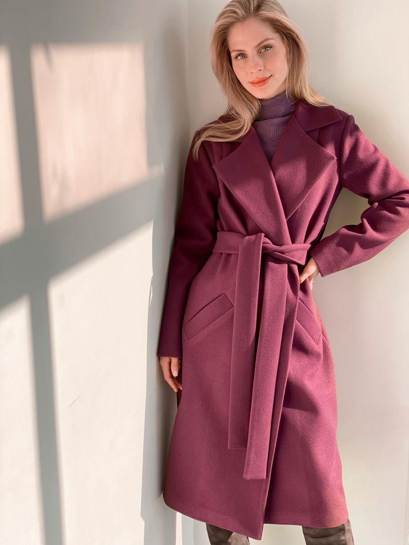 s3798 Пальто классическое в цвете lupine