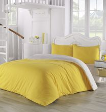 Комплект постельного белья трикотажный  SOFA (желтый-кремовый) евро   Арт.2988-2