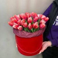 Тюльпаны в коробке,35шт №108