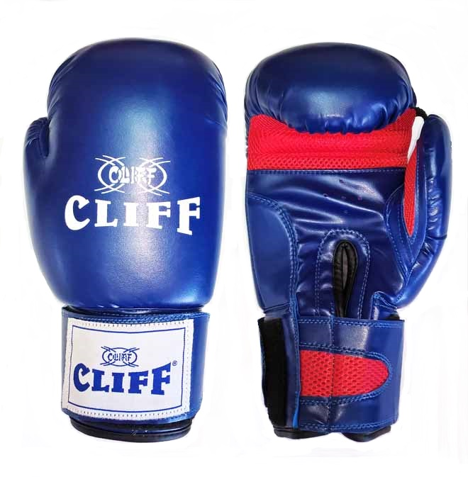 Перчатки бокс Cliff PUNCH STAR (DX)  14 oz синие