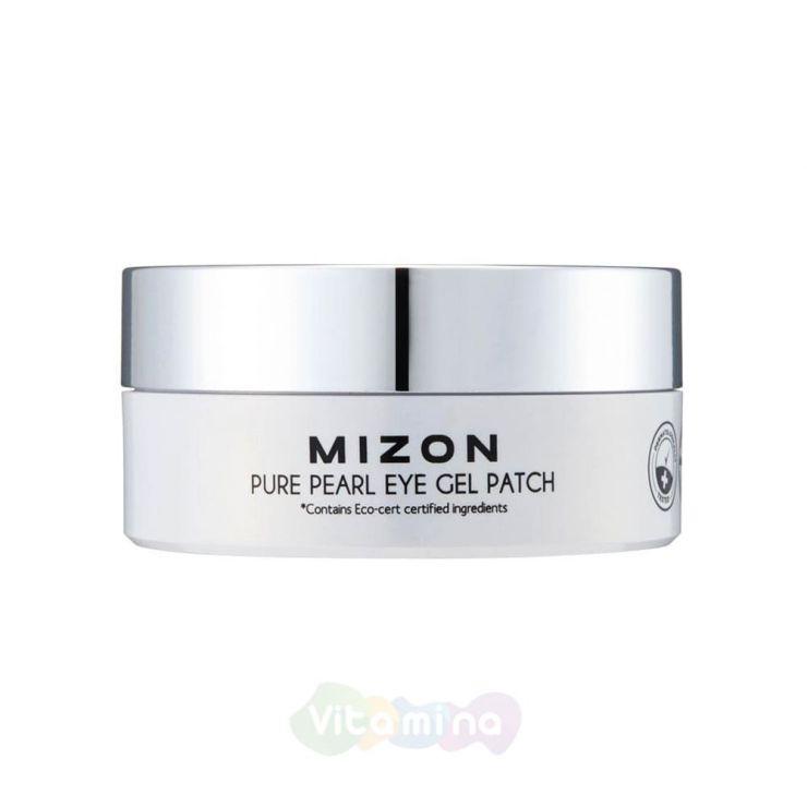 MIZON Патчи под глаза гидрогелевые с экстрактом белого жемчуга PURE PEARL EYE GEL PATCH, 60 шт.