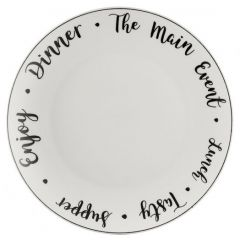Тарелка обеденная Carnaby Script D 26,5 см