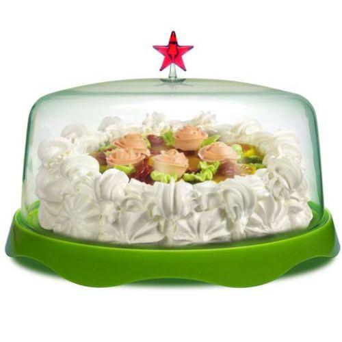 Тортовница подарочная Merry Tray большая зеленая