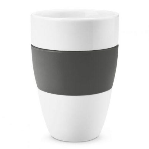 Чашка AROMA, 400 мл, тёмно-серая