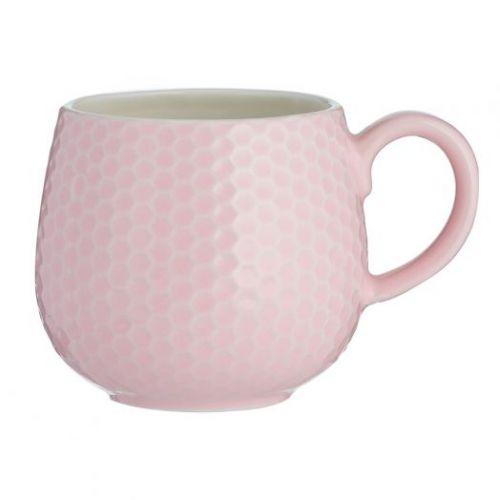 Чашка Embossed 350 мл розовая