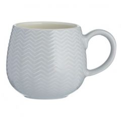 Чашка Embossed 350 мл серая