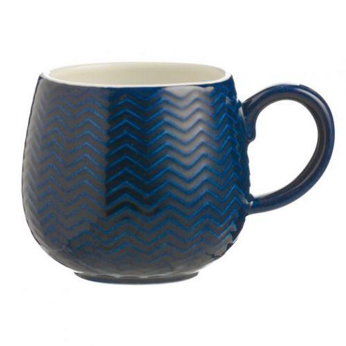 Чашка Embossed 350 мл синяя