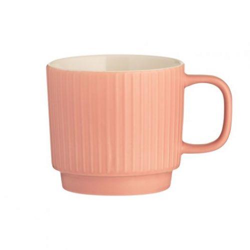 Чашка Embossed коралловая 355 мл