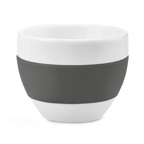 Чашка для капучино AROMA, 100 мл, тёмно-серая