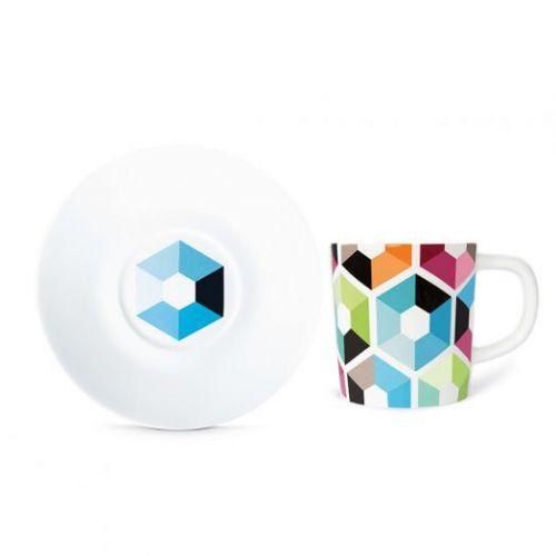 Чашка для эспрессо с блюдцем Remember, Hexagon, 75 мл