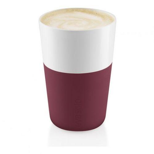 Чашки для латте 2 шт 360 мл гранатовый