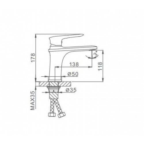 Смеситель для раковины Frap H49-6 F1049-6
