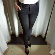 Черные брюки на флисе