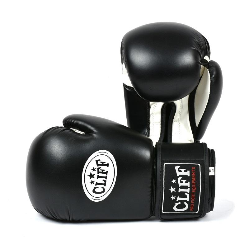 Перчатки боксерские CLIFF, DRAGON Classic (FLEX)  8 oz чёрные