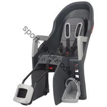 Заднее велокресло Polisport Guppy Maxi RS+ серый/серебристый