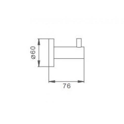 Крючок для полотенец Frap F30105
