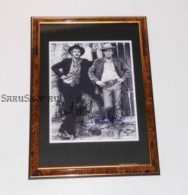 """Автограф: Пол Ньюман, Роберт Редфорд. """"Буч Кэссиди и Сандэнс Кид"""". Редкость"""
