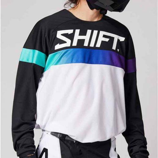 Shift White Label Ultra White/Ultraviolet джерси для мотокросса