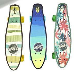 Скейтборд пенниборд 24 дюйма / 61 см. со светящимися колесами Гавайи Banga