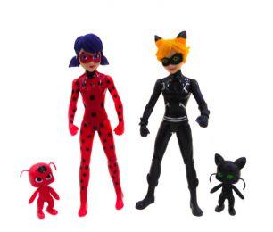 Набор из 2-х кукол –  Леди Баг и супер кот) (TopToys, 19 см)