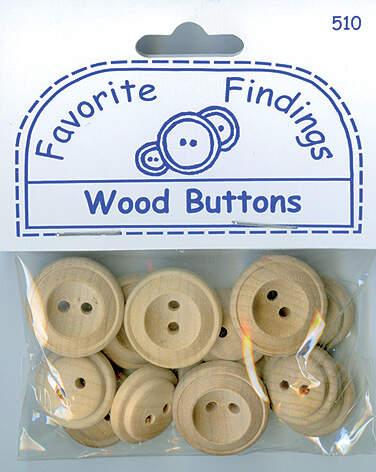 Пуговицы для творчества FAVORITE FINDINGS Wood BLUMENTHAL LANSING (550000510)