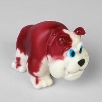 Виниловая игрушка-пищалка для собак Бульдожка, 12 см