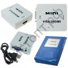 Конвертер MINI видео переходник VGA2HDMI в коробке